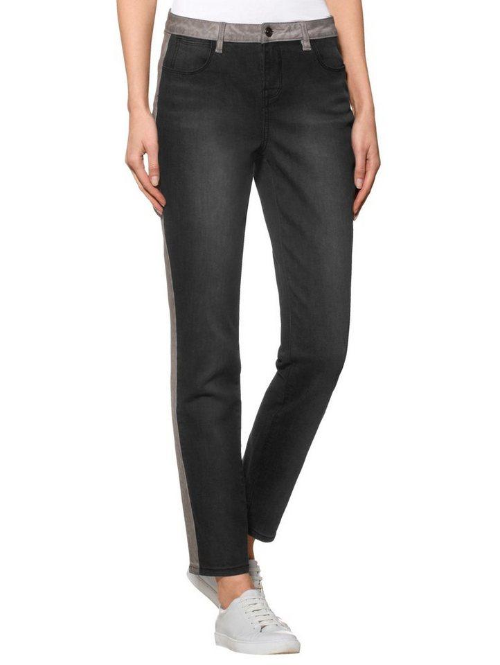 alba moda jeans mit modischen eins tzen kaufen otto. Black Bedroom Furniture Sets. Home Design Ideas