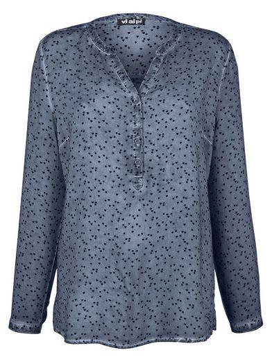 Alba Moda Bluse mit Sternedruck