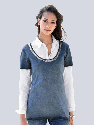 Alba Moda Pullover mit Metallic-Print