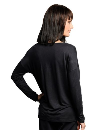Alba Moda Shirt mit Strass-Applikationen