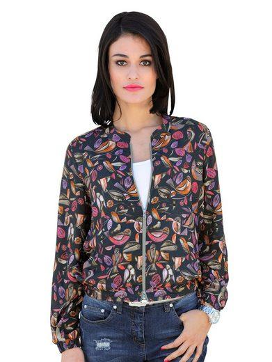 Alba Moda Blouson aus bedruckter Blusen-Qualität