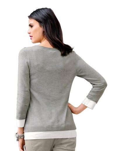 Alba Moda Pullover im 2-in1-Styling