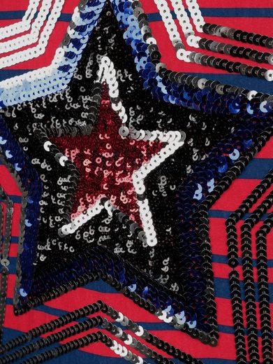 Alba Moda Ringelshirt mit Sternenapplikation
