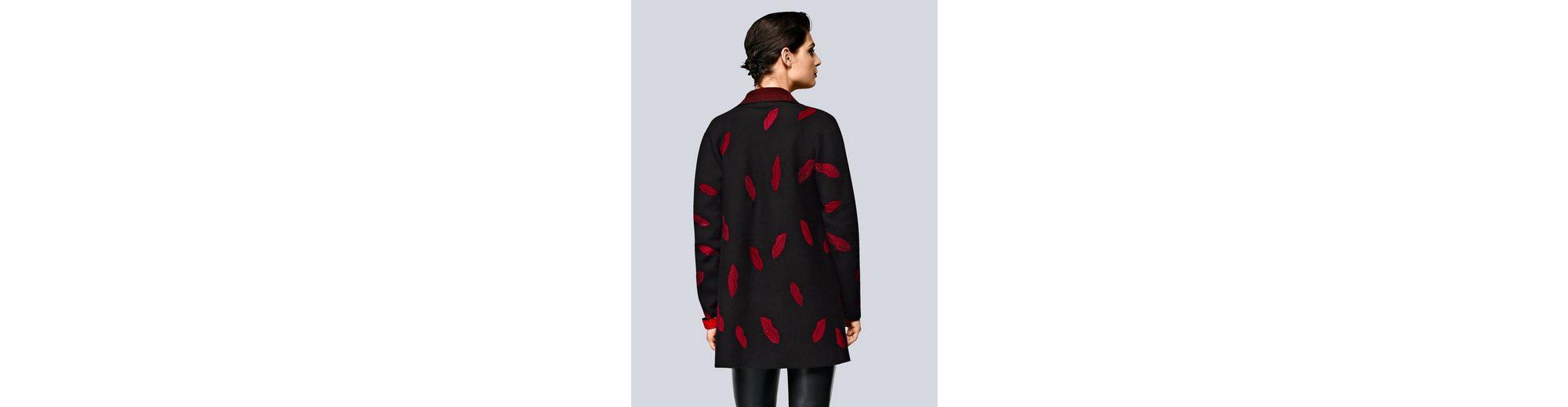 Alba Moda Strickjacke im Jacquard-Strick Freies Verschiffen Footaction Rabatt Mode-Stil Günstig Kaufen Preis Zum Verkauf Online-Shop xYeEr