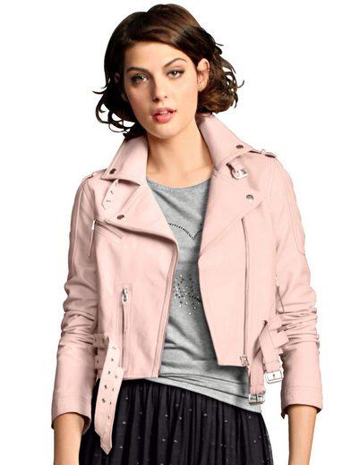 Alba Moda Lederjacke in kurzer Form