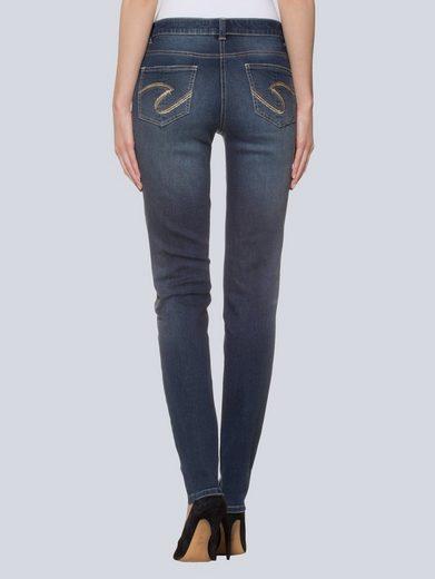 Alba Moda Skinny-Jeans mit Strass