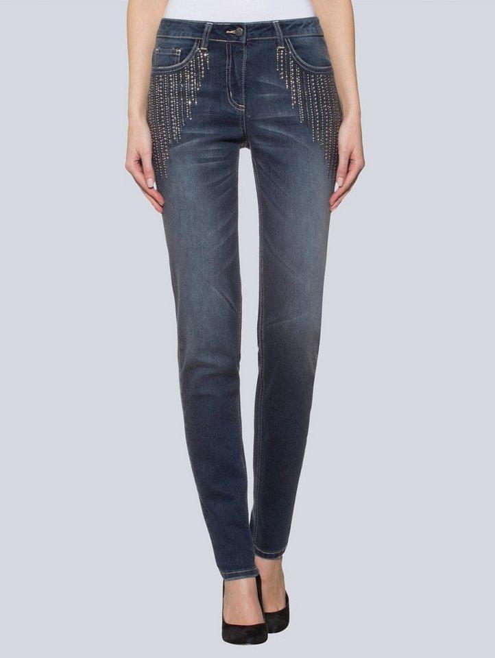 alba moda skinny jeans mit strass online kaufen otto. Black Bedroom Furniture Sets. Home Design Ideas