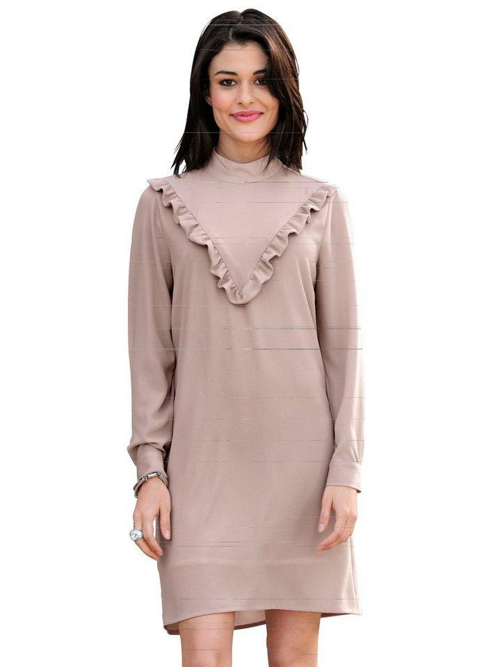 Damen Alba Moda  Volantskleid in femininer Aufmachung rosa | 04055715334618