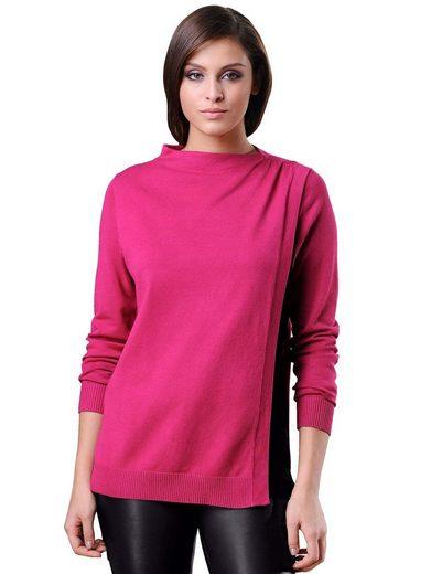 Alba Moda Pullover mit kontrastfarbenem Einsatz