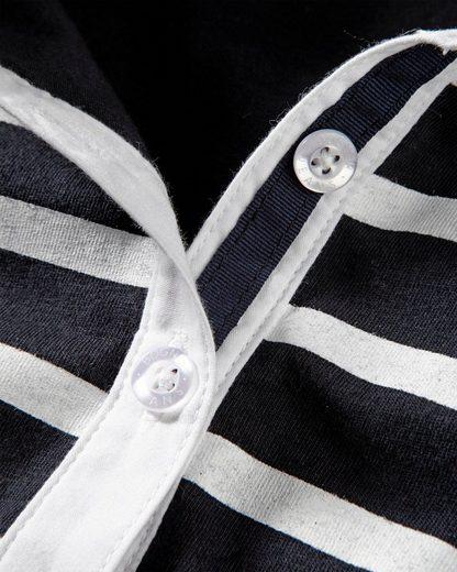 Bogner Jeans Streifenshirt mit Webkragen
