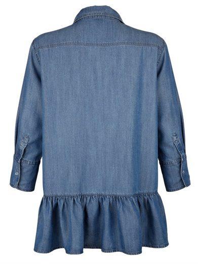 Alba Moda Bluse mit Volantssaum im Rückenteil