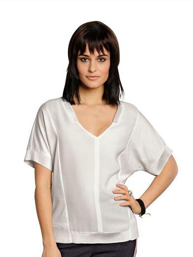 Alba Moda Blusenshirt in ausgefallener Schnittführung