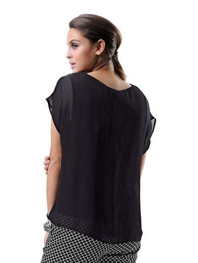 Alba Moda Shirt In schönem 2-in-1 Look