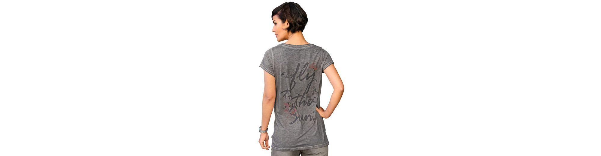 Billig Bester Verkauf Alba Moda Bedrucktes Shirt mit Spitzenbesatz Günstig Kaufen Billigsten Günstigsten Preis Zu Verkaufen jINJfo
