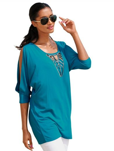 Alba Moda Beach Shirt Beach Shirt With Slit Sleeves