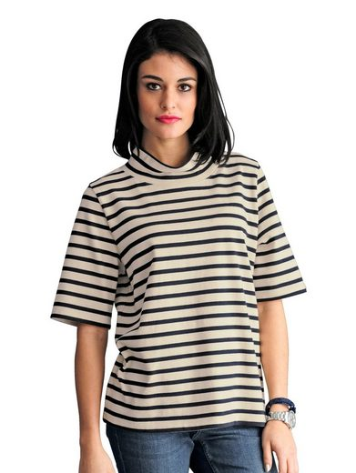 Alba Moda Sweatshirt In Marigold Dessin