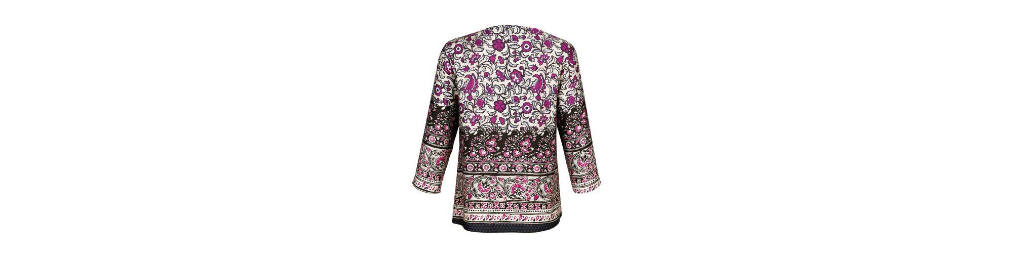 Bester Lieferant Geniue Händler Alba Moda Bluse aus softer Ware mit schönem Glanz Verkauf Bestseller XeqSfLP1dS