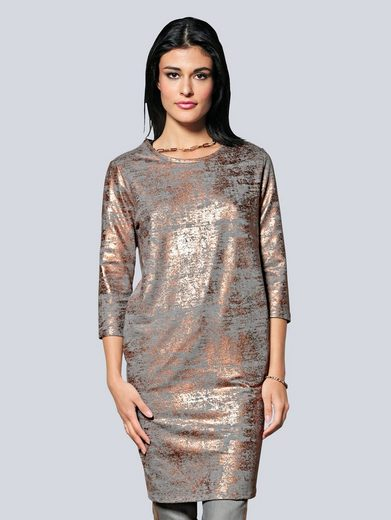 Alba Moda Kleid mit Metallic-Print