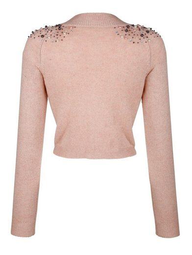 Alba Moda Bolero-sweater With Jewelery Detail