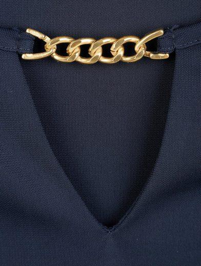 Alba Moda Shirt mit dekorativem Kettenelement am Ausschnitt