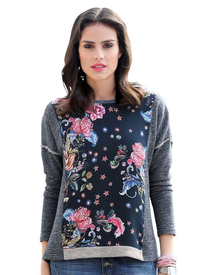 Damen Alba Moda  Sweatshirt in Patchoptik blau | 04055715328730