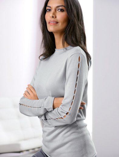 Alba Moda Pullover mit dekorativen Cut-Outs an den Ärmel