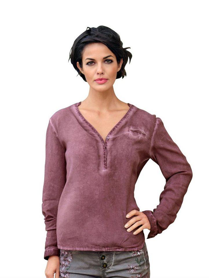 Damen Alba Moda  Tunika mit modischer Oil-dye-Färbung rosa | 04055715338562