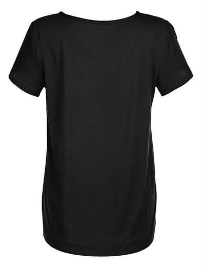 Alba Moda Shirt aus reiner Seide im Vorderteil