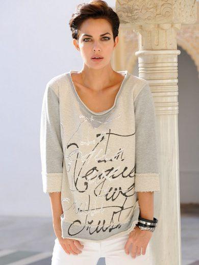 Alba Moda Sweatshirt mit Schriftprint