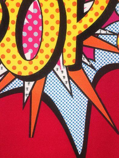 Alba Moda Druckshirt mit Vorderteil aus Webware