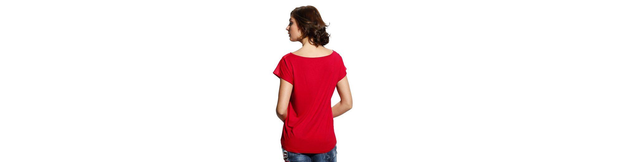 Alba Moda Druckshirt mit Vorderteil aus Webware Offizielle Zum Verkauf Rabatt Neue Stile XuBkH