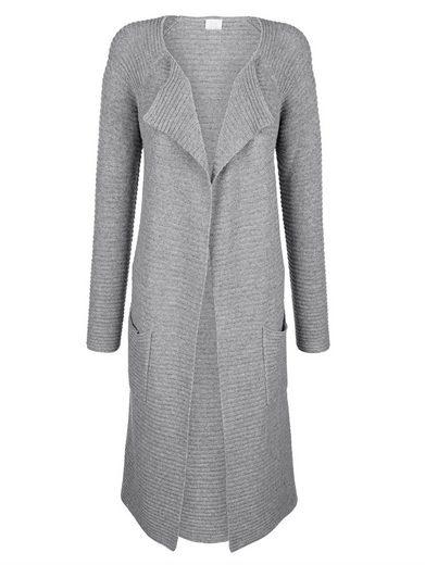 Alba Moda Knit Coat In Open Form