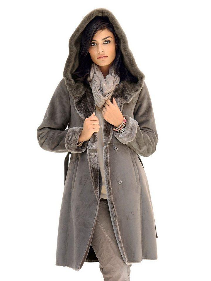 Alba moda mantel in velouroptik