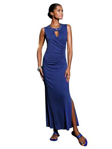 Alba Moda Strandkleid mit verziertem Halsausschnitt