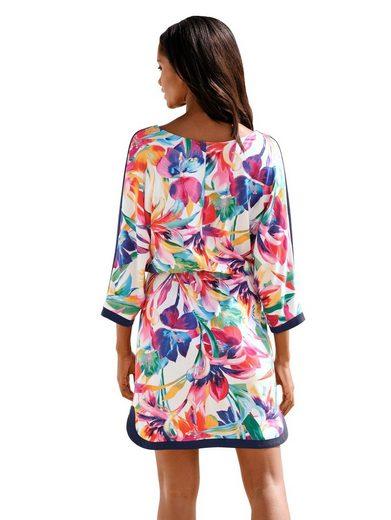 Alba Moda Strandkleid mit paradiesischem Blumendruck