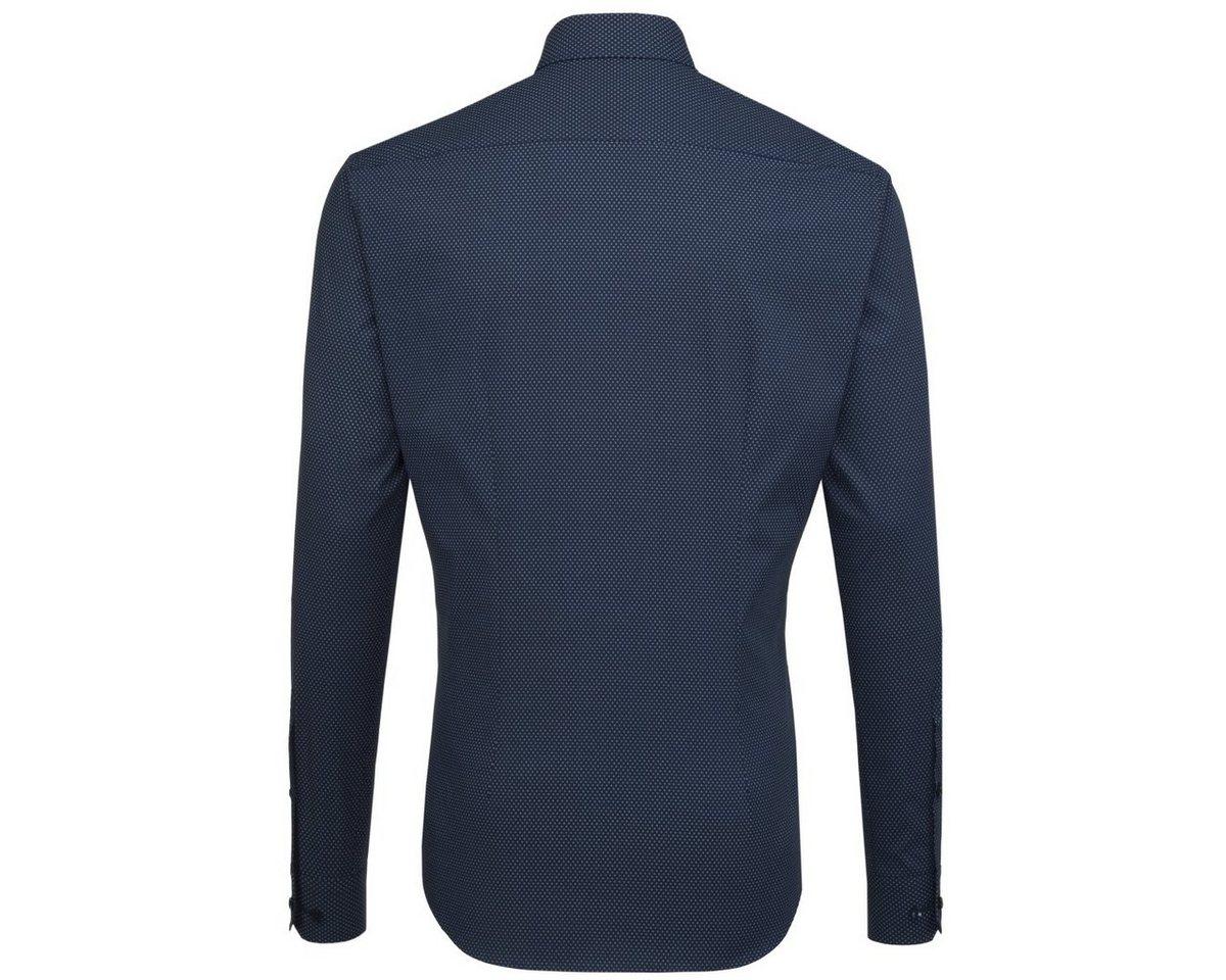 - Herren seidensticker Businesshemd X-Slim, Button-Down-Kragen blau | 04048869334429