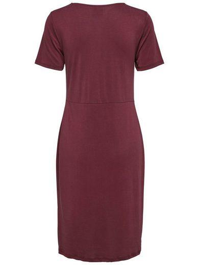Selected Femme Modalmix- Kleid mit kurzen Ärmeln