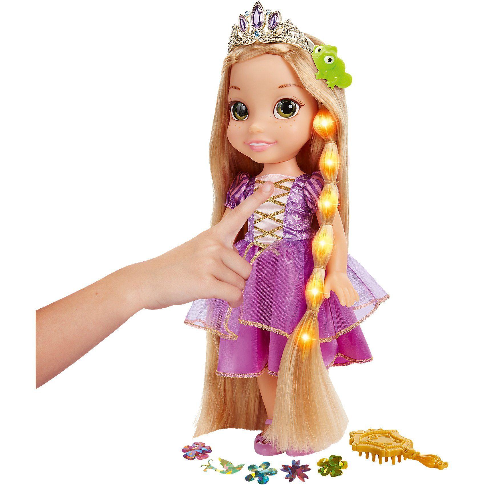 Jakks Pacific Disney Princess Rapunzel Haarglanz Puppe, 35cm