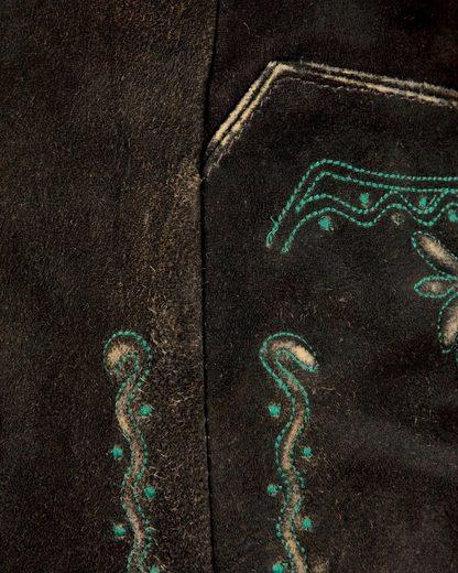 Almsach Lederknicker mit Stickerei