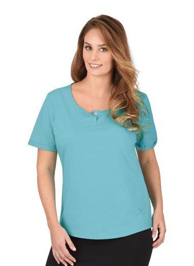 TRIGEMA Bio T-Shirt mit Knopfleiste
