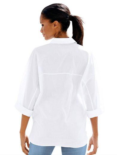 Alba Moda Hemdbluse Bluse mit Stickerei
