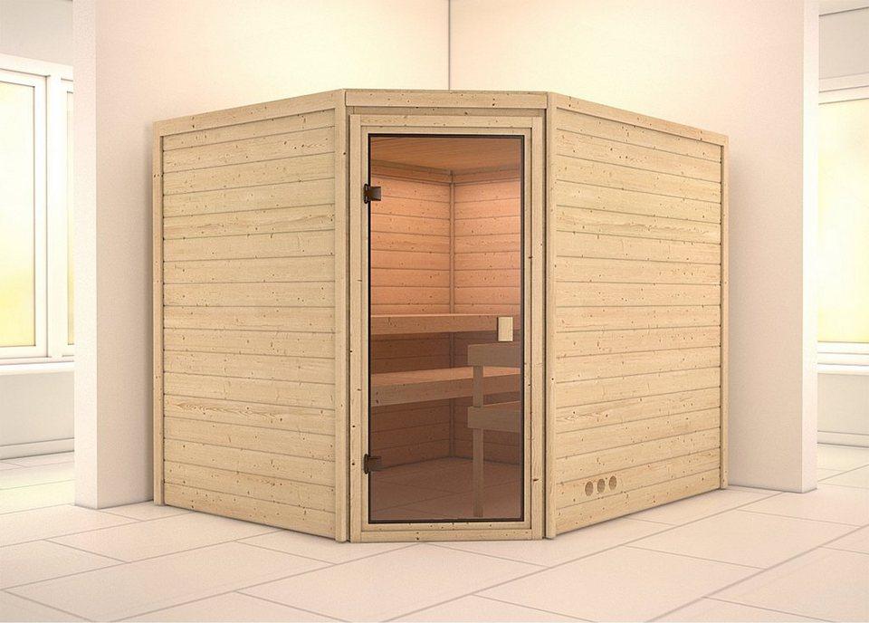 sauna leah 231 196 187 cm 9 kw ofen mit ext steuerung online kaufen otto. Black Bedroom Furniture Sets. Home Design Ideas