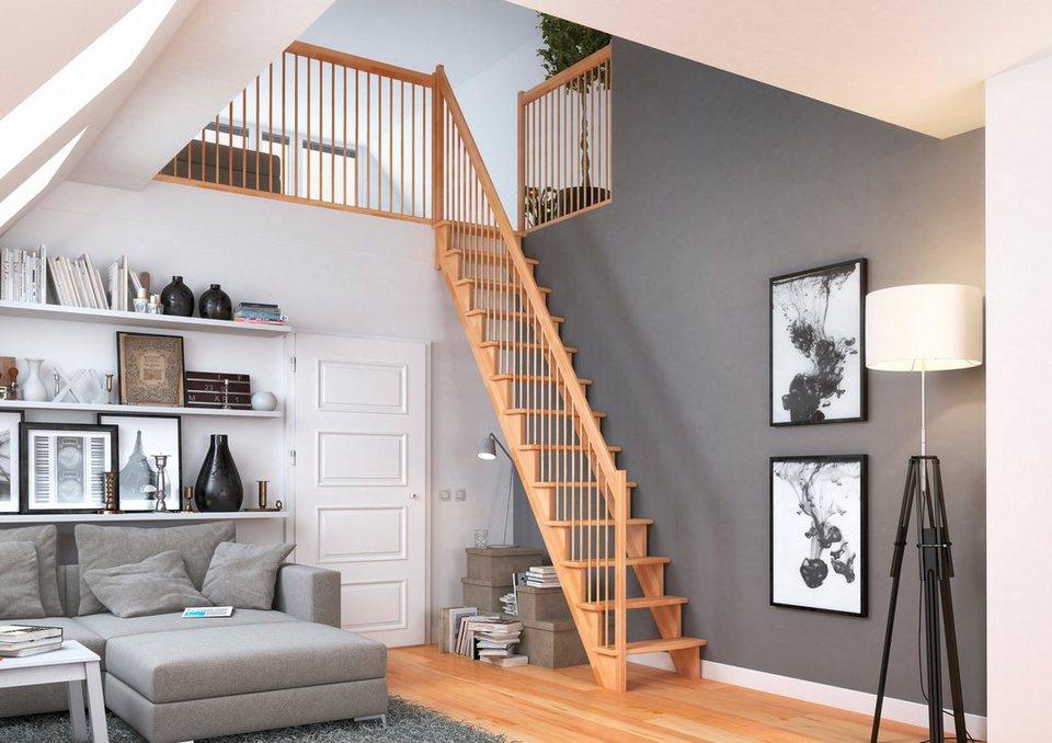 dolle raumspartreppe lyon buche gerade holzgel nder. Black Bedroom Furniture Sets. Home Design Ideas