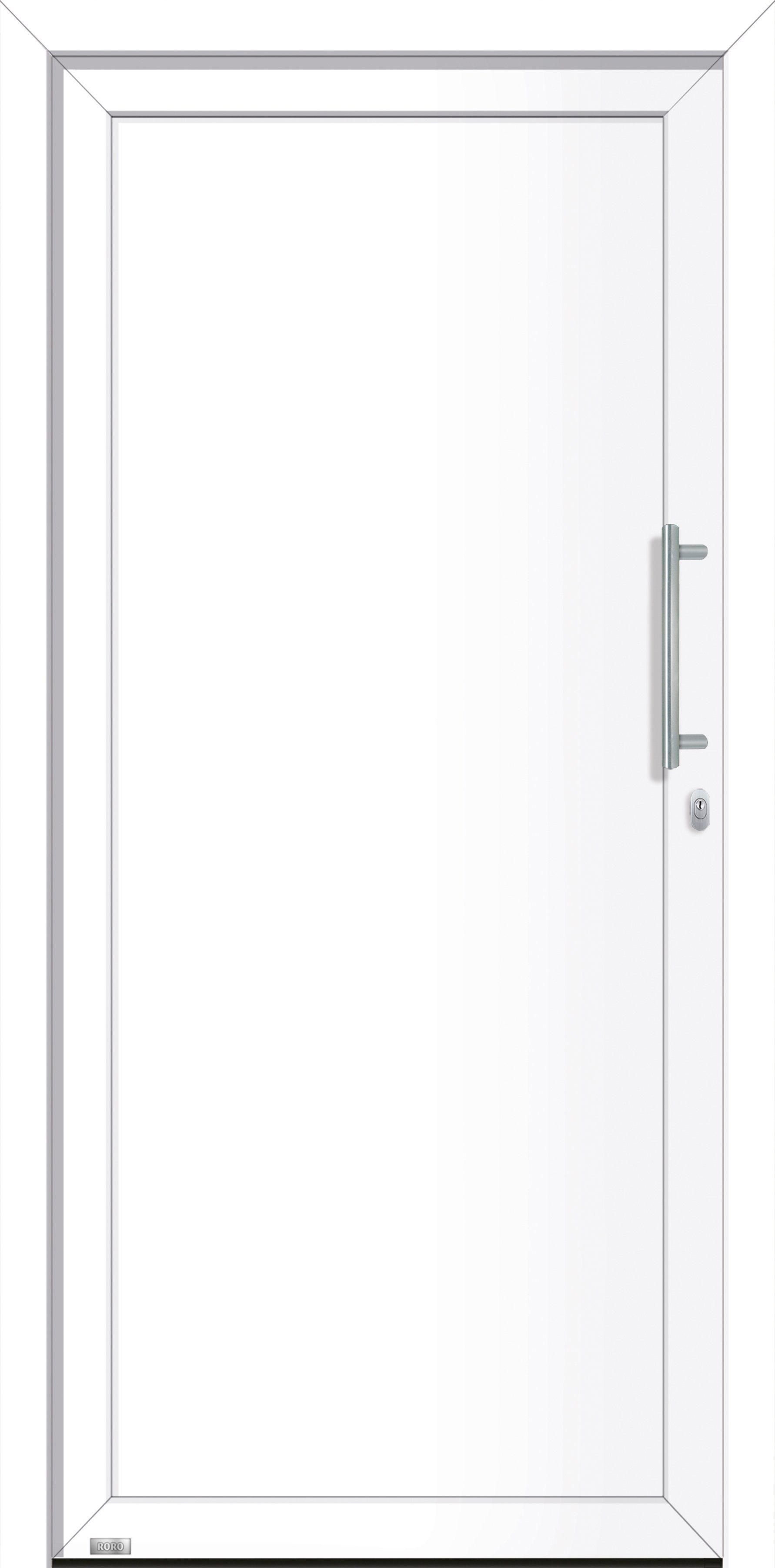 RORO Aluminium-Haustür »Irland«, BxH: 98x198 cm, weiß, Anschlag rechts