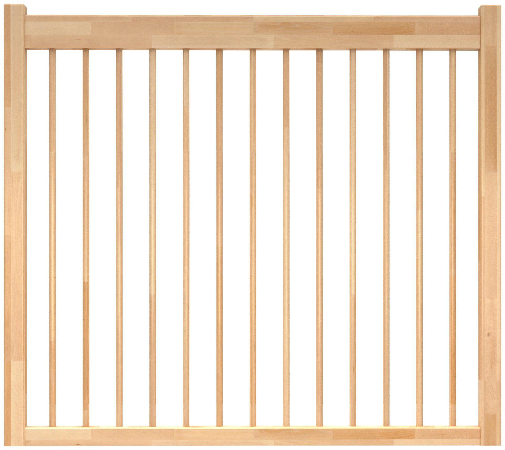 DOLLE Brüstungsgeländer »Lyon«, L: 200 cm, buche, mit Holzstäben