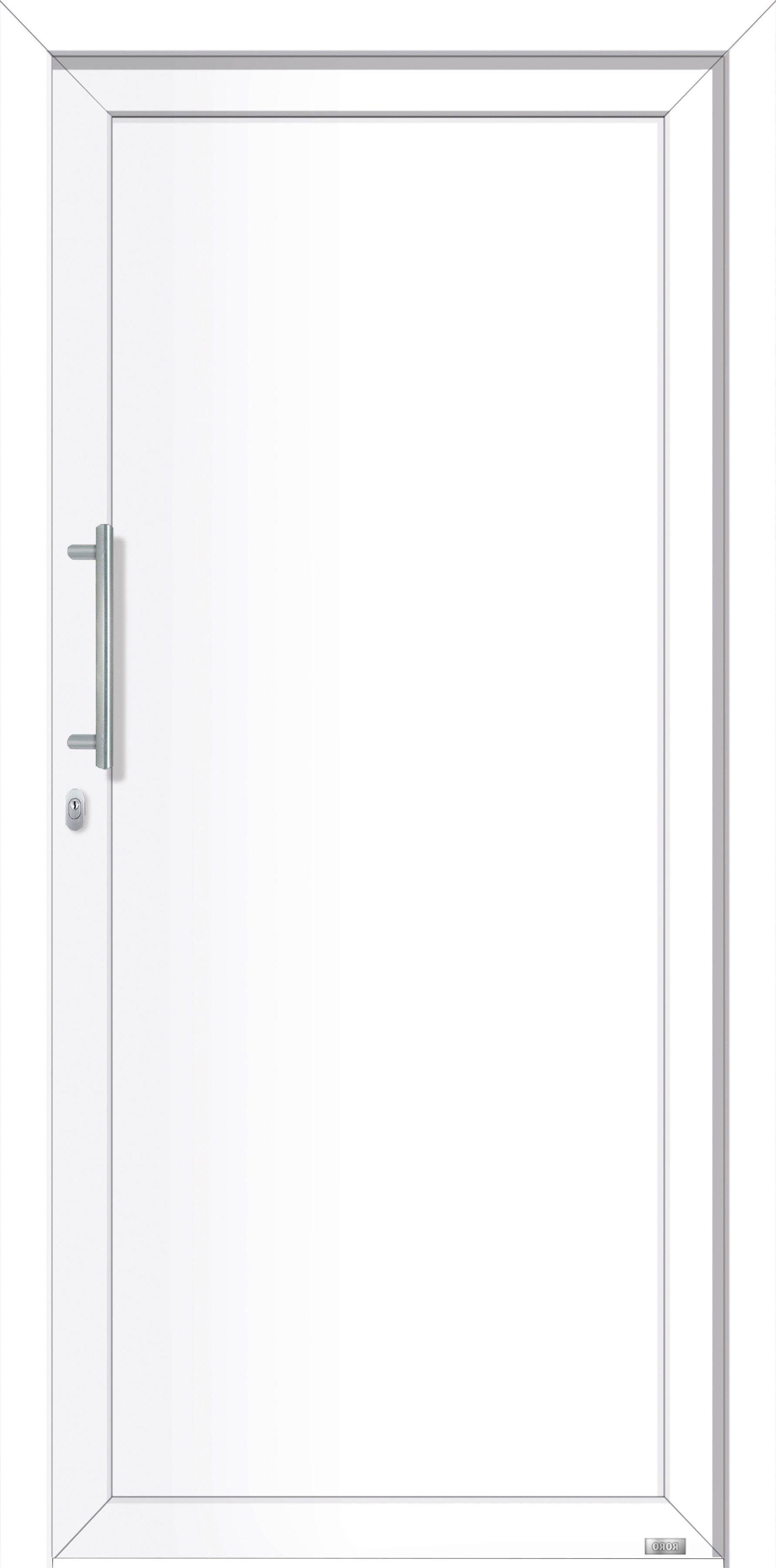 RORO Aluminium-Haustür »Irland«, BxH: 98x198 cm, weiß, Anschlag links