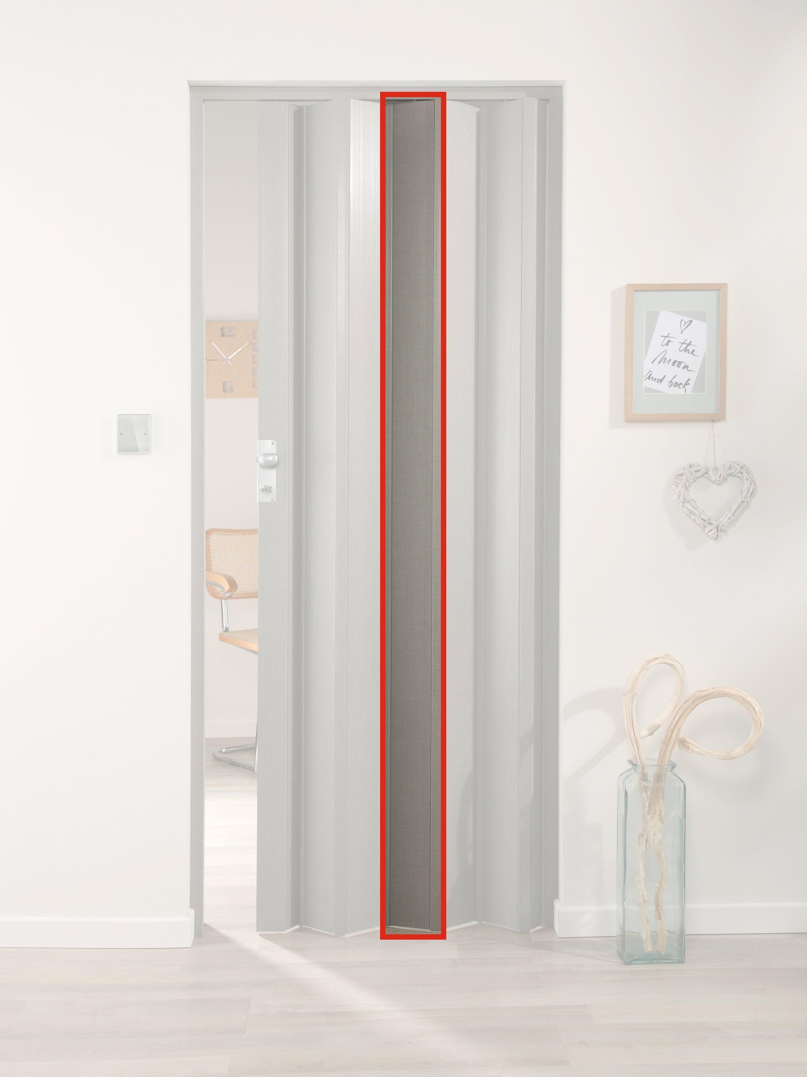 FORTE Türerweiterung , Zusatzlamelle für Falttür »Elvira«, grau gewebt
