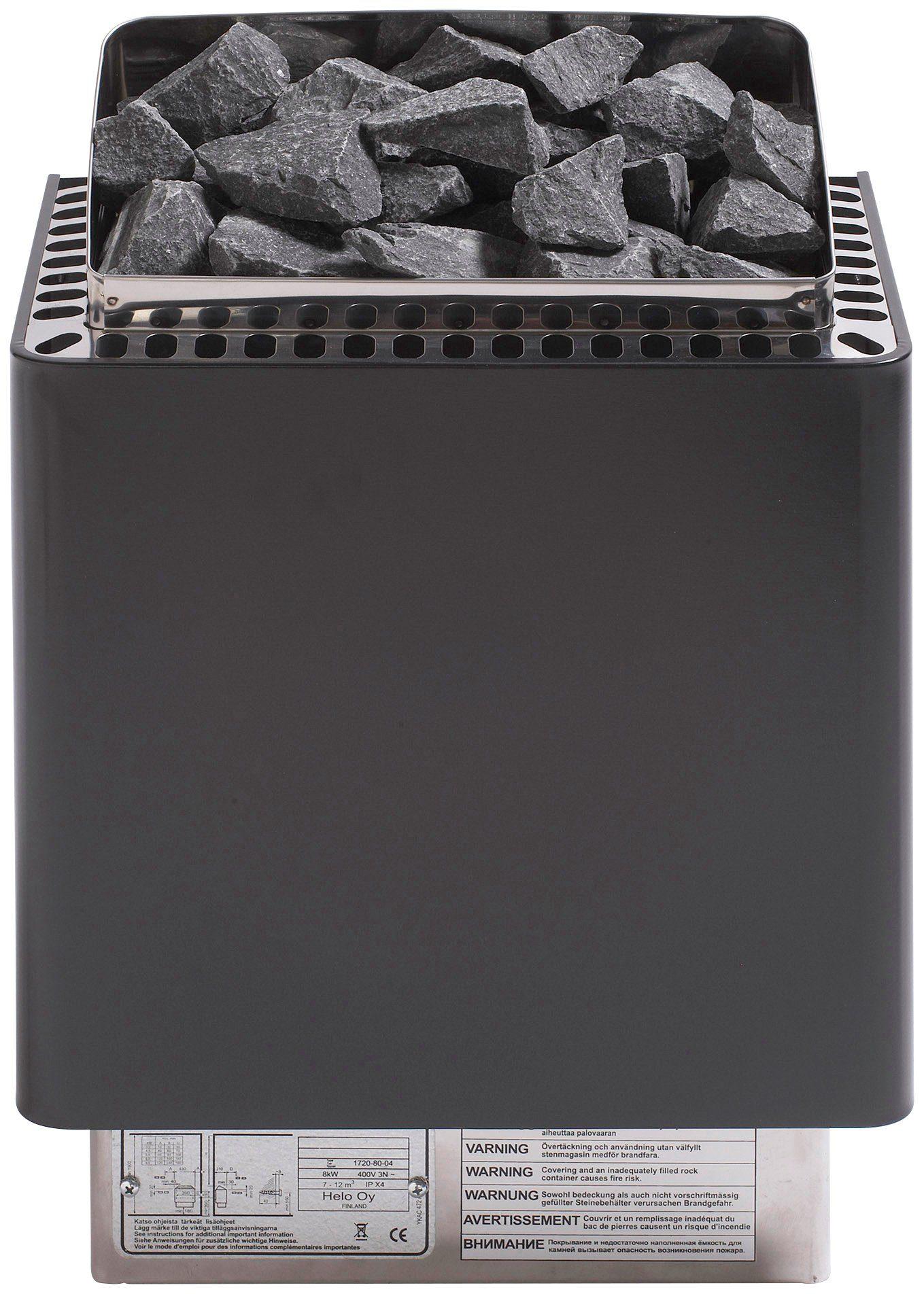 HELO FAMILY Saunaofen »Cup 90«, 9 kW, schwarz