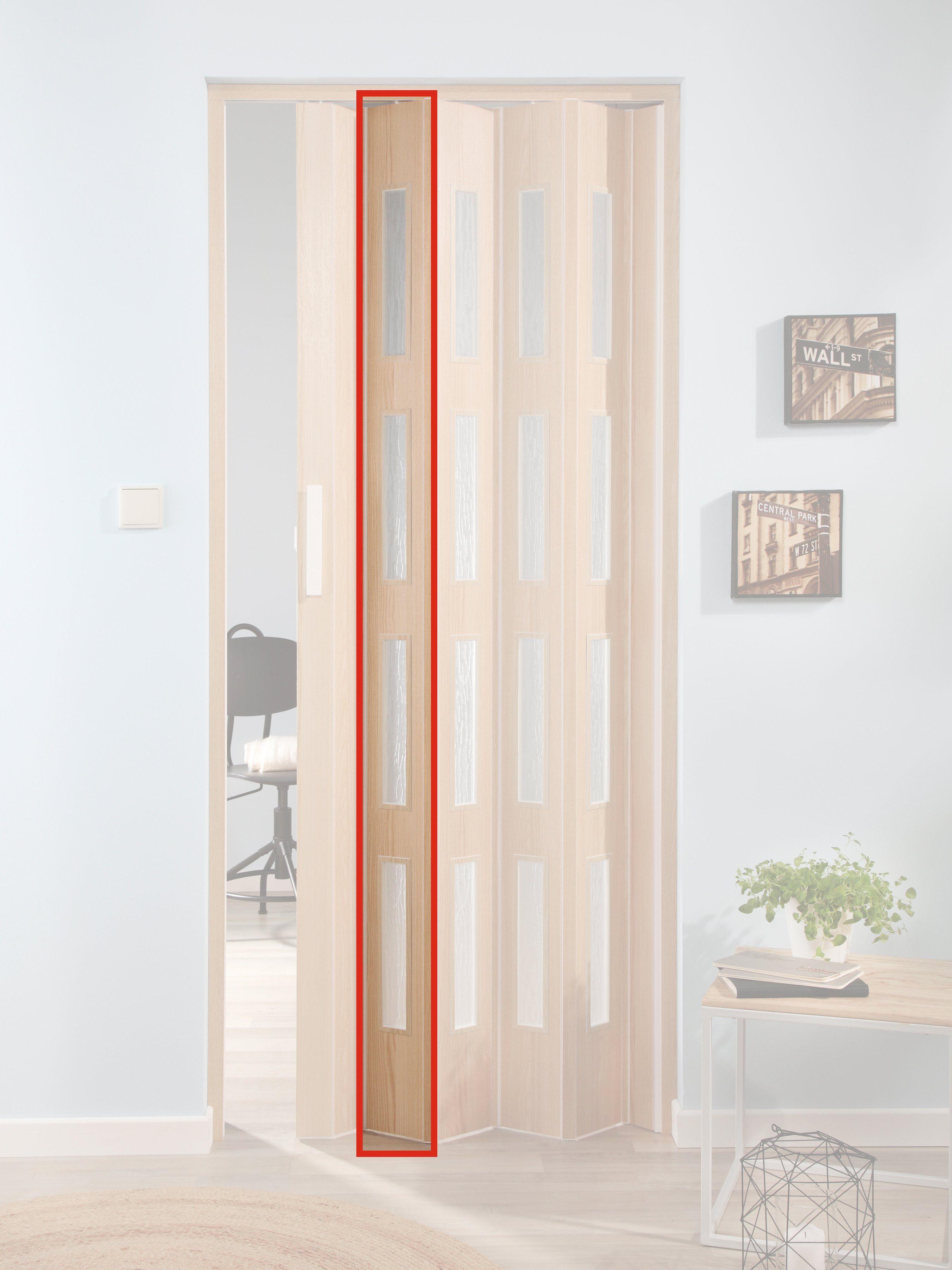 FORTE Türerweiterung , Zusatzlamelle für Falttür »Luciana«, esche holz + 4 Fenster