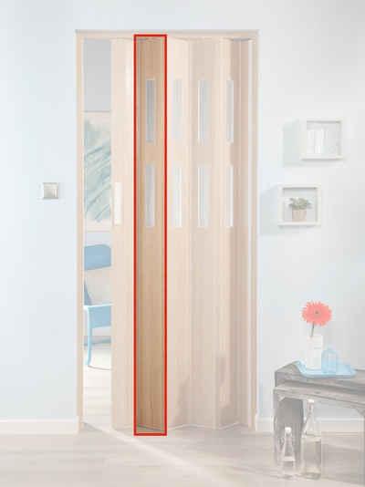 Schon FORTE Türerweiterung , Zusatzlamelle Für Falttür »Luciana«, Esche Holz + 2  Fenster